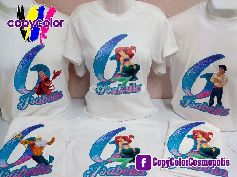 precios grandiosos a juego en color online para la venta Playeras personalizadas Copycolor Fiesta Sirenita   Sirenita ...