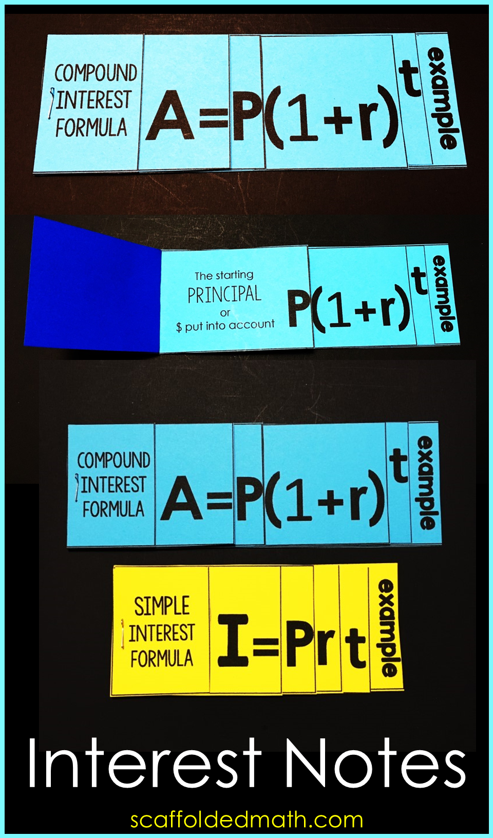 Simple And Compound Interest Foldable Math Notes Consumer Math Math Notes Math Interactive Notebook [ 1632 x 960 Pixel ]