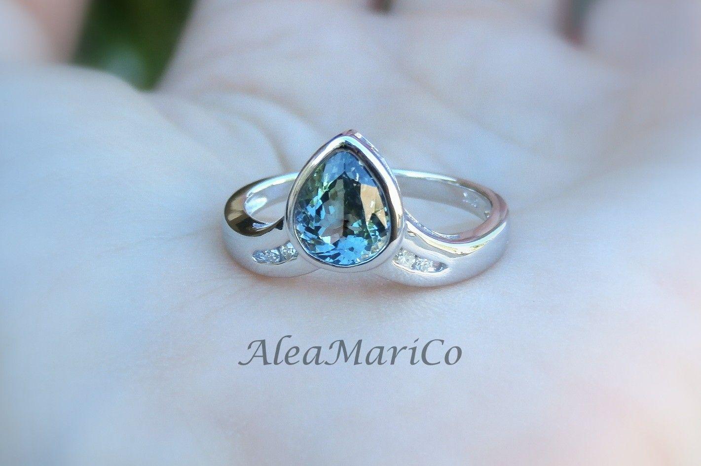 Lovely custom bi color tanzanite ring kt by aleamarico unique