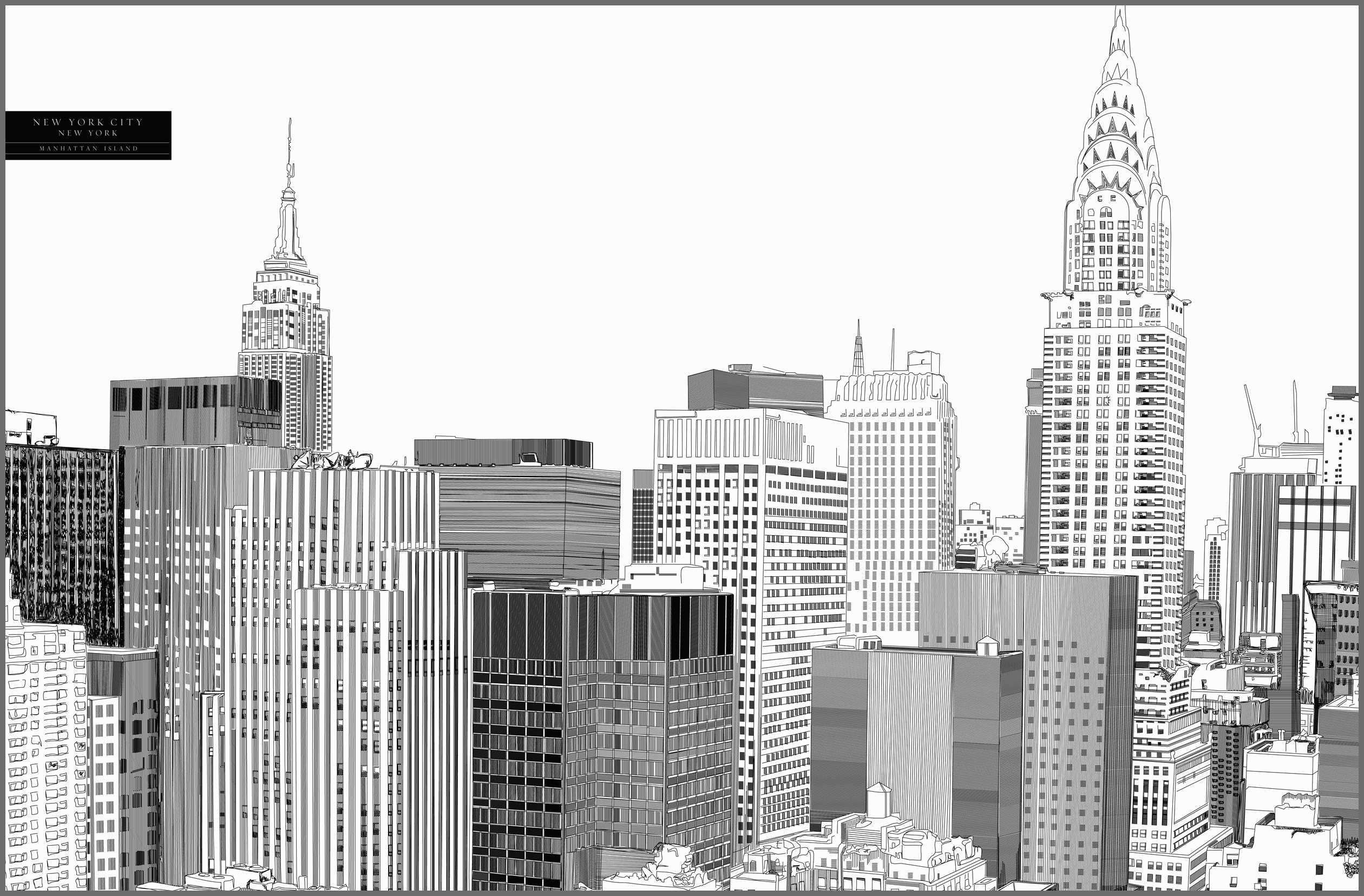 Nyc Skyline Drawing Google Search Skyline Drawing Skyline Vertical City
