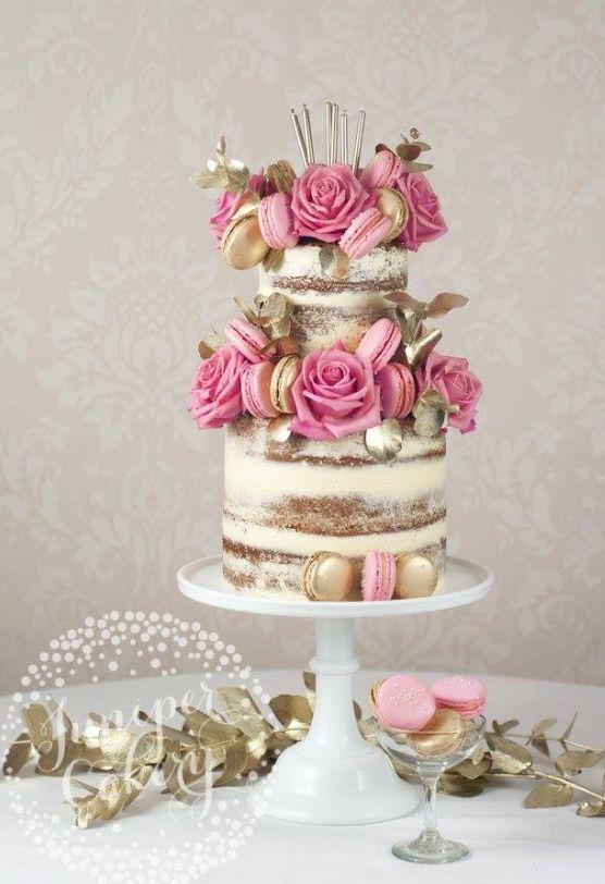 Pink Macaron And Flower Topped Wedding Cake Modwedding Cake Wedding Cake Toppers Wedding Cake Designs