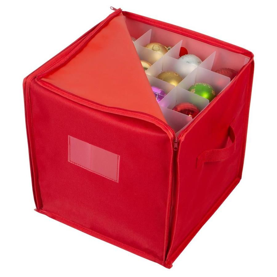 Simplify Simplify 64 Stackable Christmas Ornament Storage Box Lowes Com In 2020 Ornament Storage Christmas Ornament Storage Box Christmas Ornament Storage