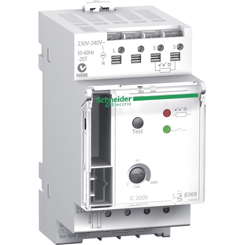 Interrupteur Crepusculaire Schneider Electric Ic2000 10 A Interrupteurs Sectionneur Et Tableau Electrique