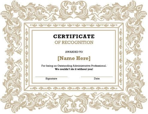Free Certificate Template by Hloom Teacher Appreciation - recognition certificate template