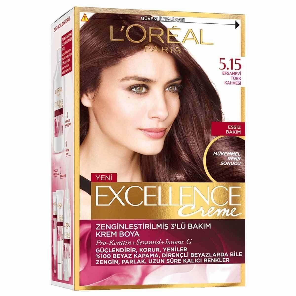 Loreal Excellence Sac Boyasi 5 15 Efsanevi Turk Kahvesi Cores