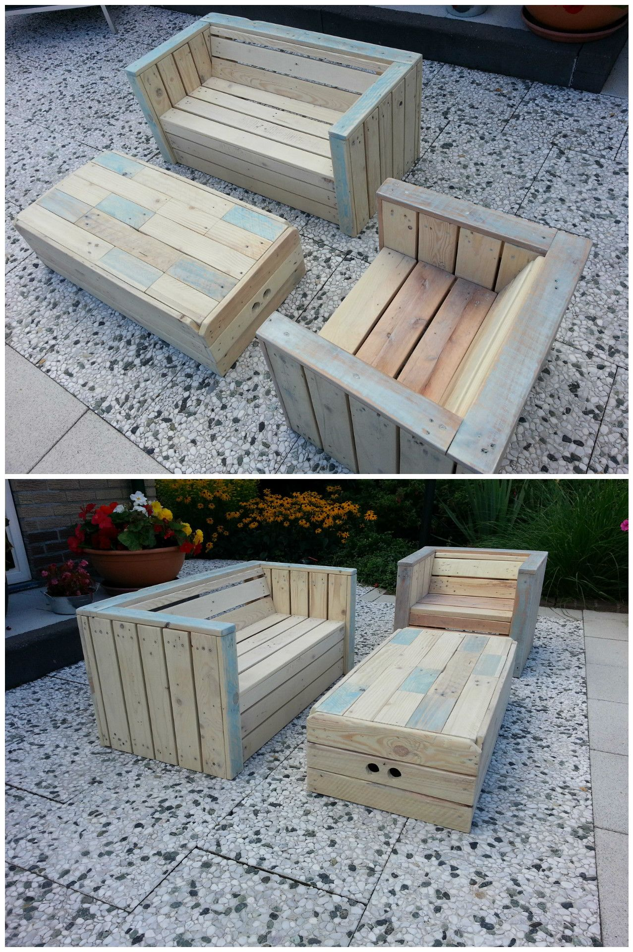 Complete Pallet Garden Set Pallet Ideas 1001 Pallets: Little Children Lounge Set Out Of Recycled Pallets