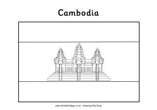 Cambodia Flag Coloring Pages Cambodian Flag