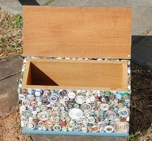 could do this with all those buttons in the button jar and an old box