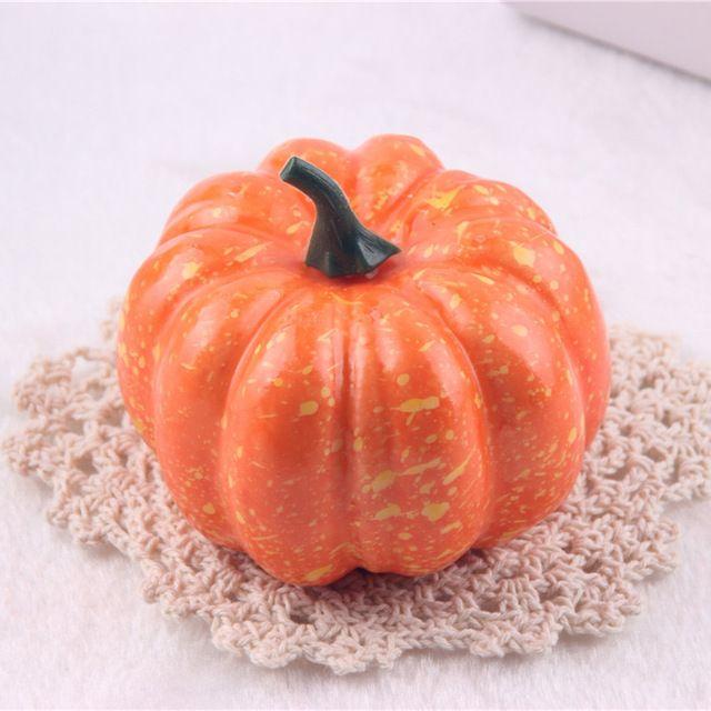 2Pcs Simulation Pumpkin Foam Artificial Vegetables Models Halloween Christmas Decoration Teaching props Kids Children Toys Gifts