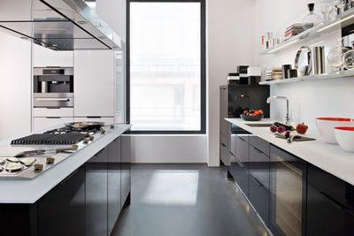 Une cuisine toute en longueur, chic