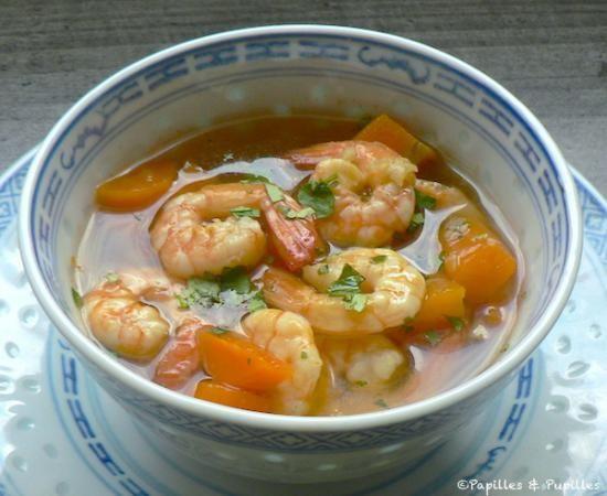 soupe de crevettes tha recette cuisine food soup. Black Bedroom Furniture Sets. Home Design Ideas