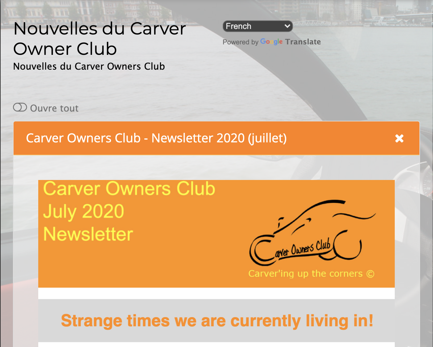 CVROC Newsletter July 2020 in 2020 Carver, Club