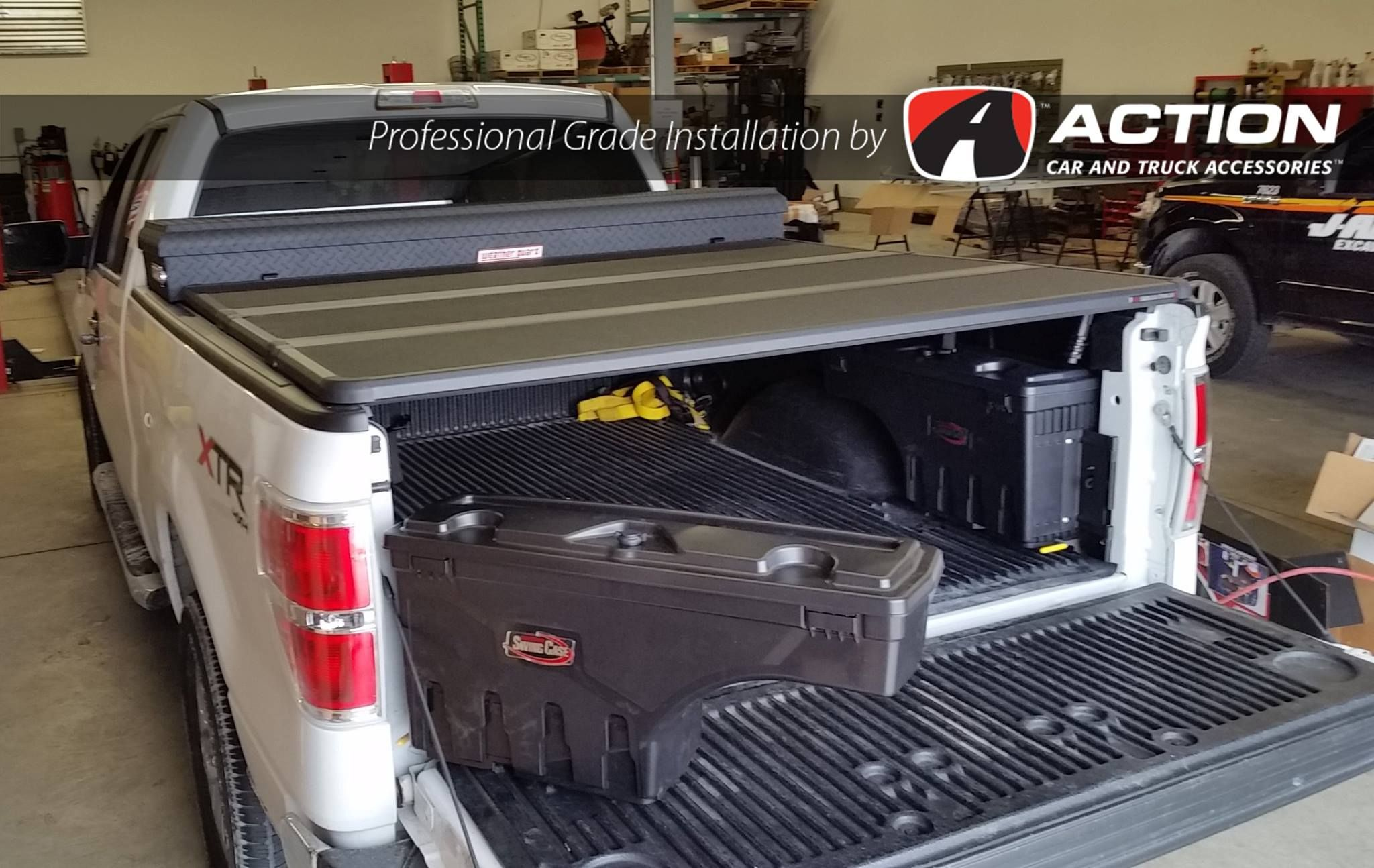 2014 F150 with a Solid Fold 2.0 Tonneau Cover by Extang