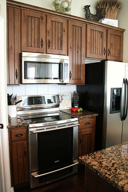 Dark Cabinets Stainless Steel Appliances Yay