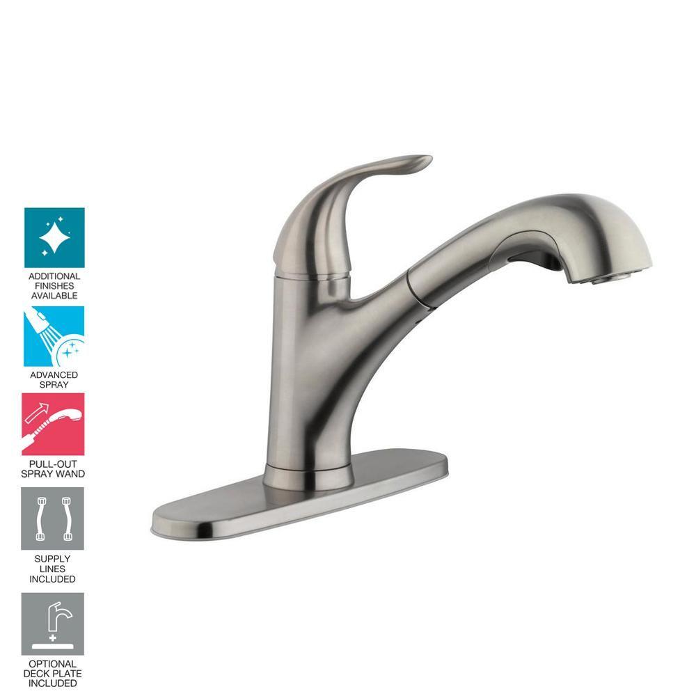 Glacier Bay Market Single Handle Pull Out Sprayer Kitchen Faucet