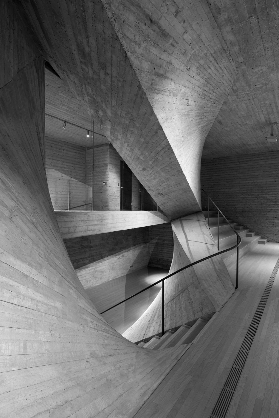 Archi Union Architects Completes Curving Concrete Arts Space Concrete Architecture Concrete Art Conceptual Model Architecture