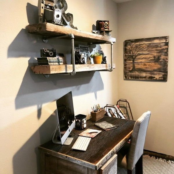 100 Charming Farmhouse Office Decor Ideas for Your Home Around the - Home Office Decor Ideas