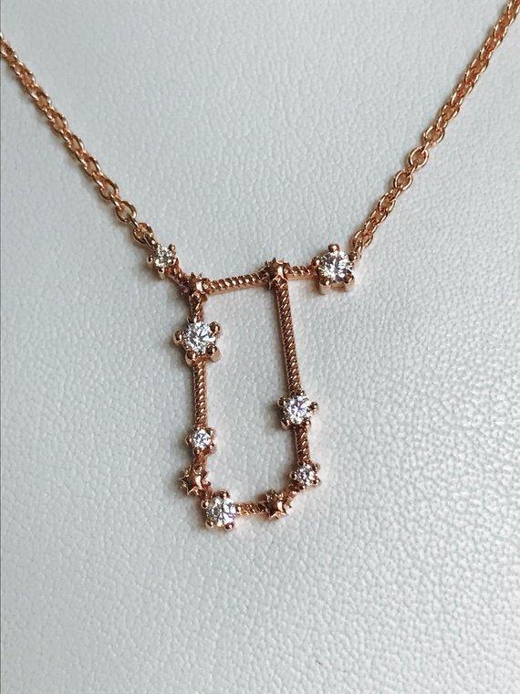 a8e2ef530299e7 Gemini necklace, Celestial necklace, Zodiac Jewelry, Gold gemini necklace,  Astrology necklace, Const