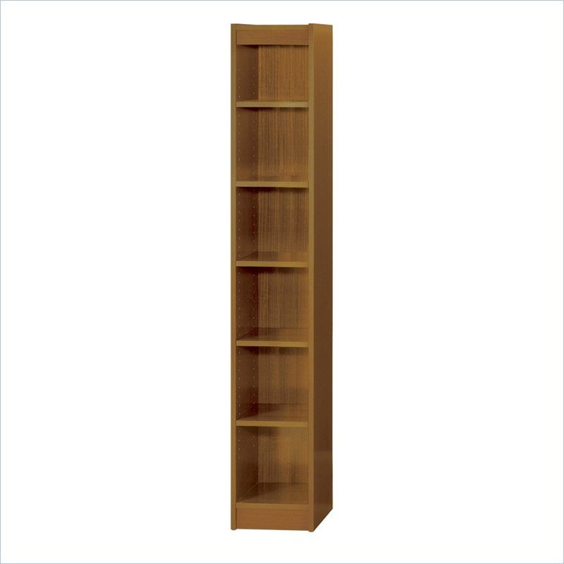 Safco 12 Inch Wide 6 Shelf Veneer Baby Bookcase In Medium Oak