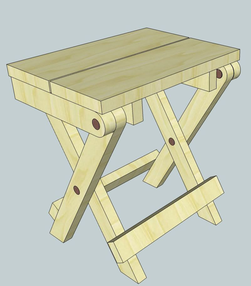 More folding stool plans | Woodworking for Mere Mortals  sc 1 st  Pinterest : folding wooden stool plans - islam-shia.org