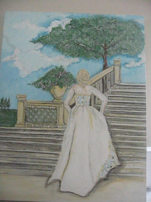 painting made by myself..........the bride on the steps..........