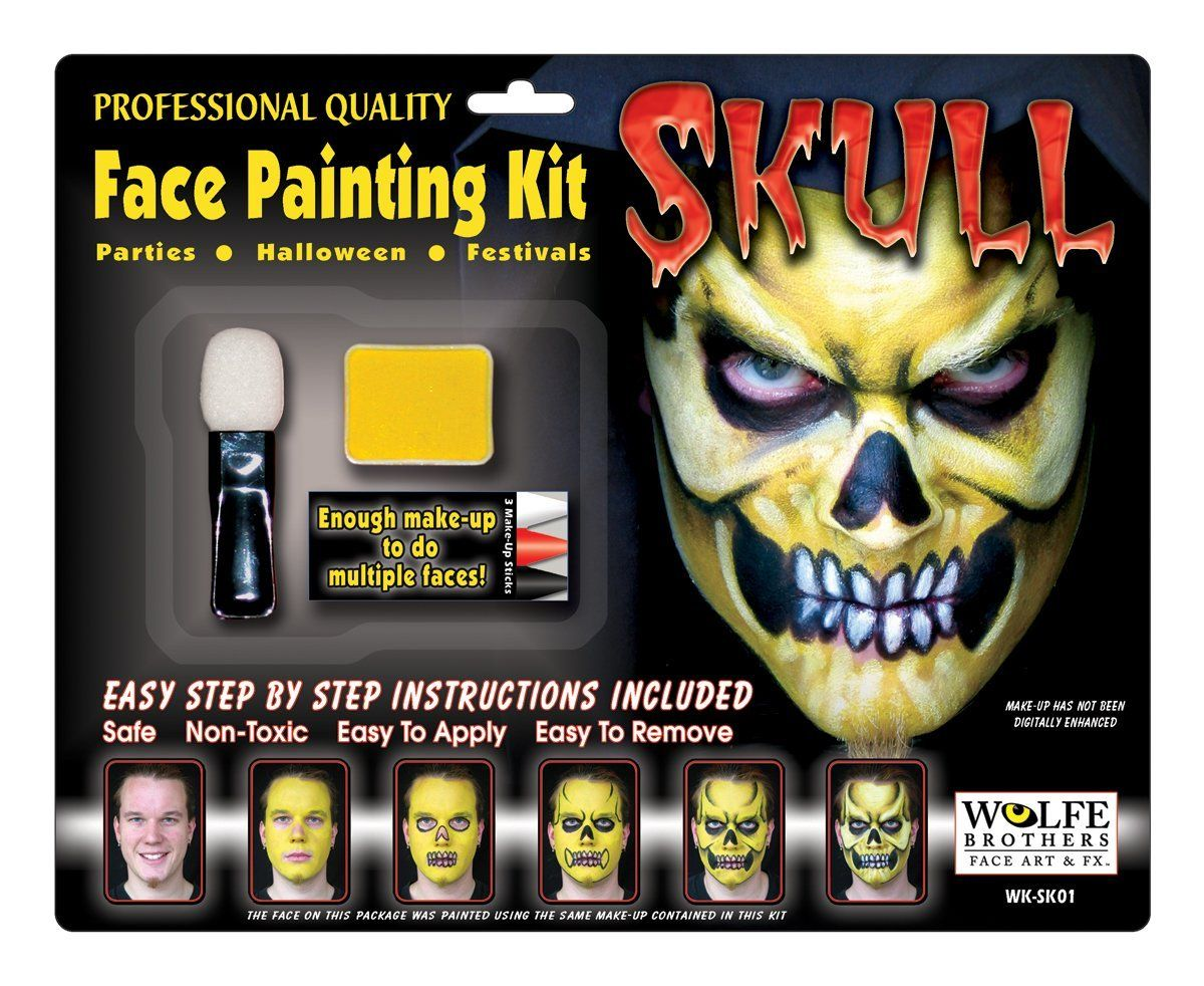 Wolfe Brothers Face Art Wolfe Brothers Skull Makeup Kit : Make-up