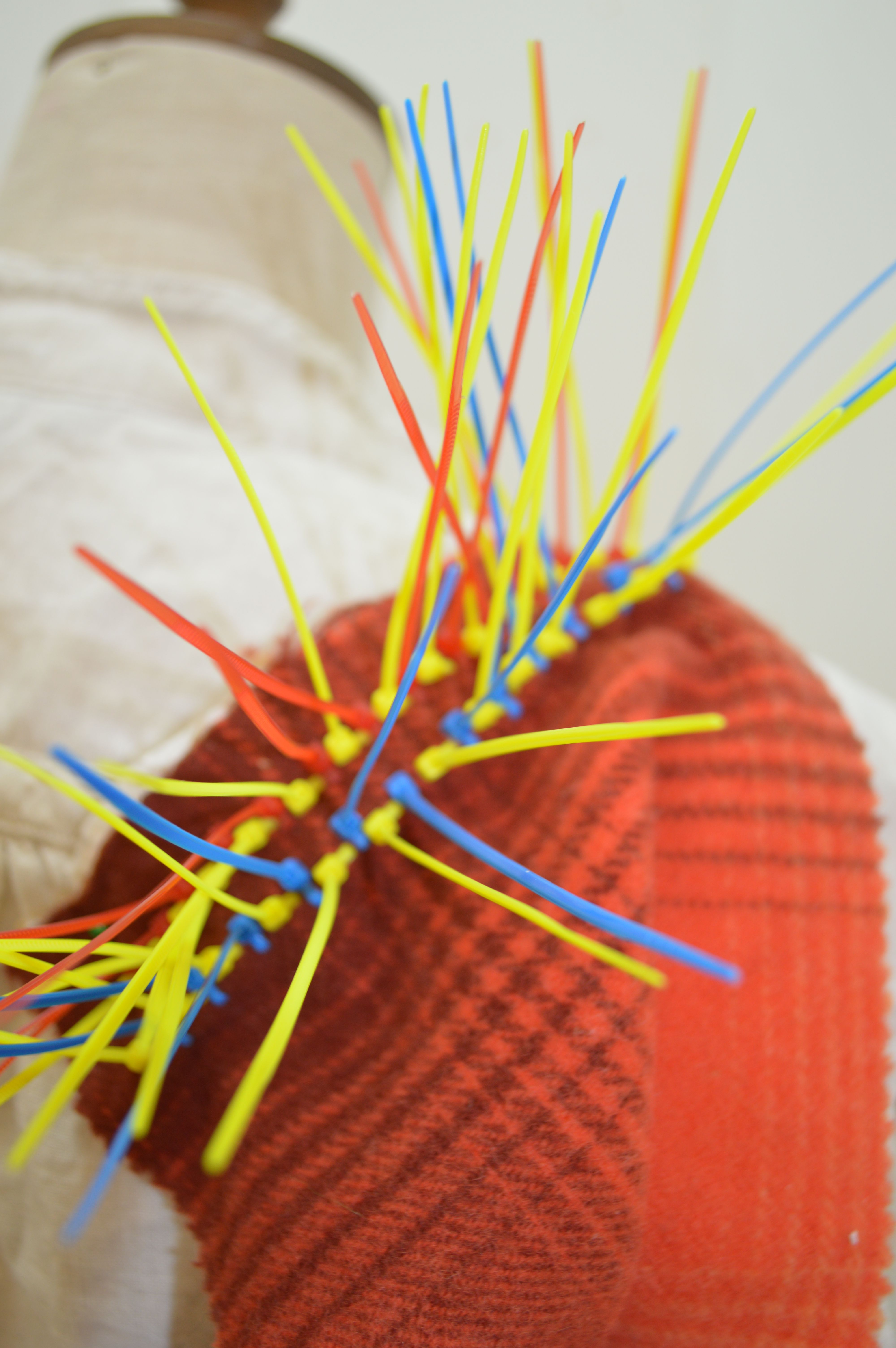weaving with cable ties to create 3d texture NEED CABLE TIES? GREAT