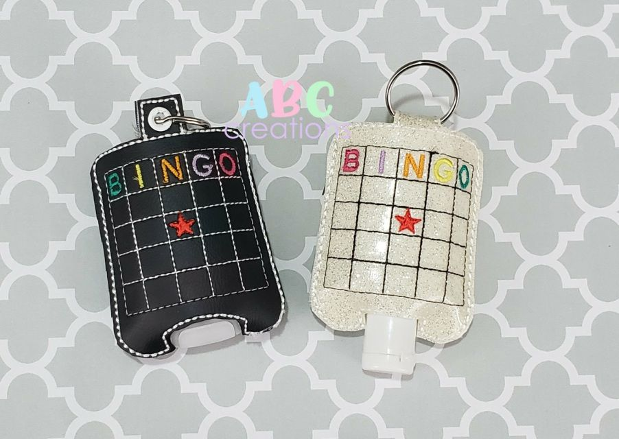 Bingo Hand Sanitizer Holders Key Chain Hand Sanitizer Holder