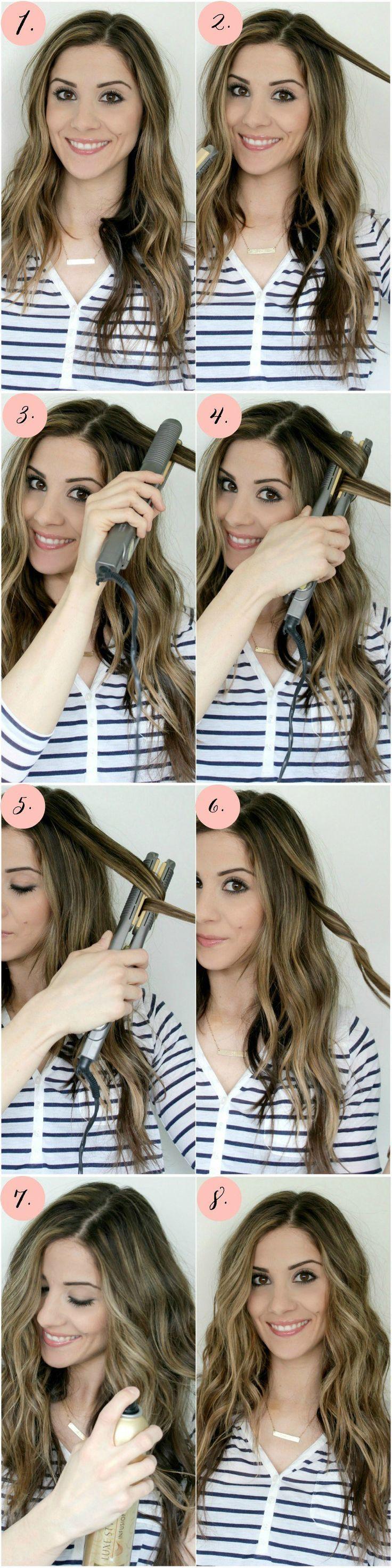 Flat iron curls tutorial hair braiding tutorial flat iron curls