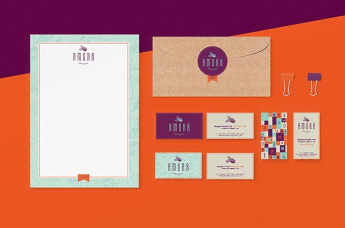 100% Design: Branding Inspiration #8: Amora