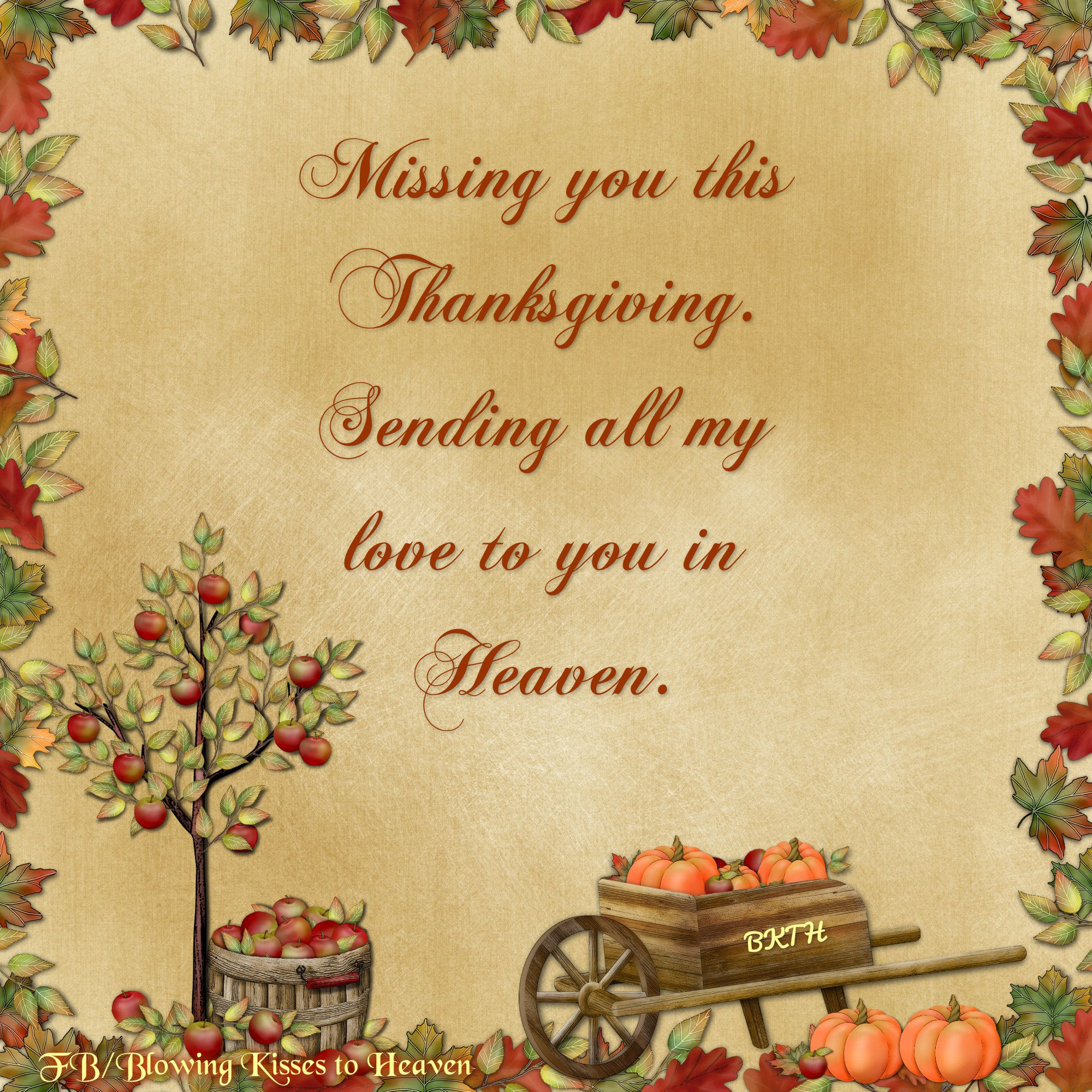 Missing You This Thanksgiving