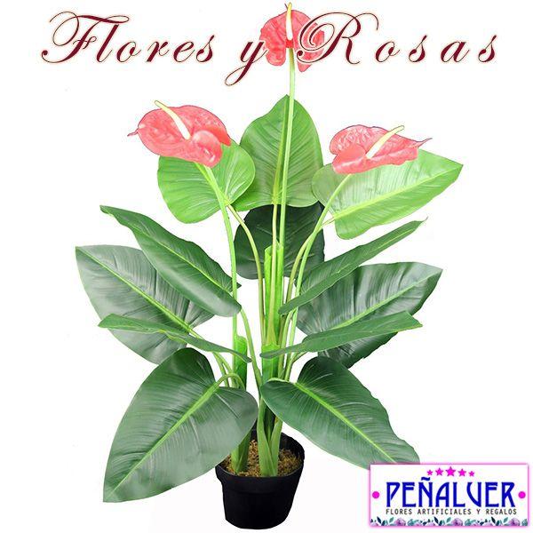 Planta anturium - RFPL003 Centros de flores artificiales para