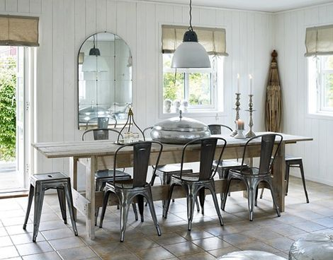 Interiors I Love Tolix Chairs Farmhouse Table Chairs Tolix Chair Modern Dining Room