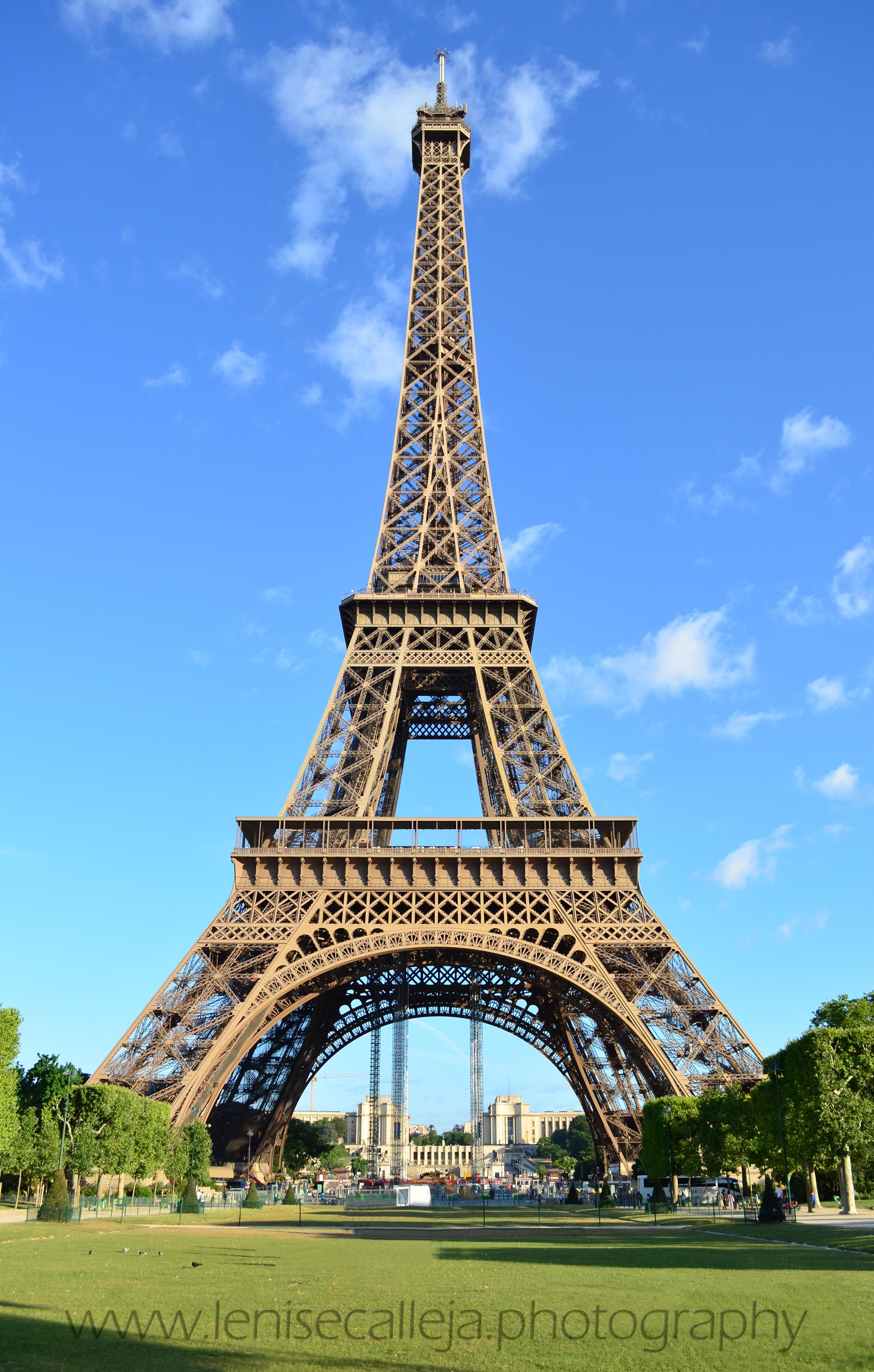 Early Morning At The Eiffel Tower In Paris France