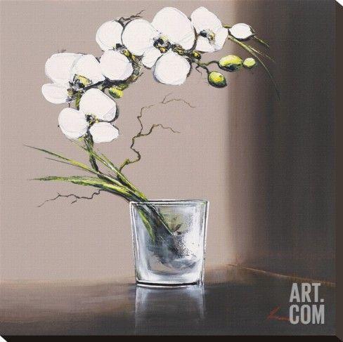 Art Fr Tableau Sur Toile Volutes D Orchidees Blanches I Par