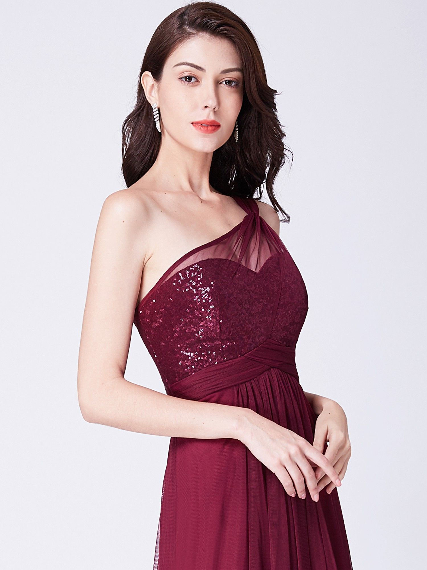 One Shoulder Sequin Evening Party Dress   Ever-Pretty ...