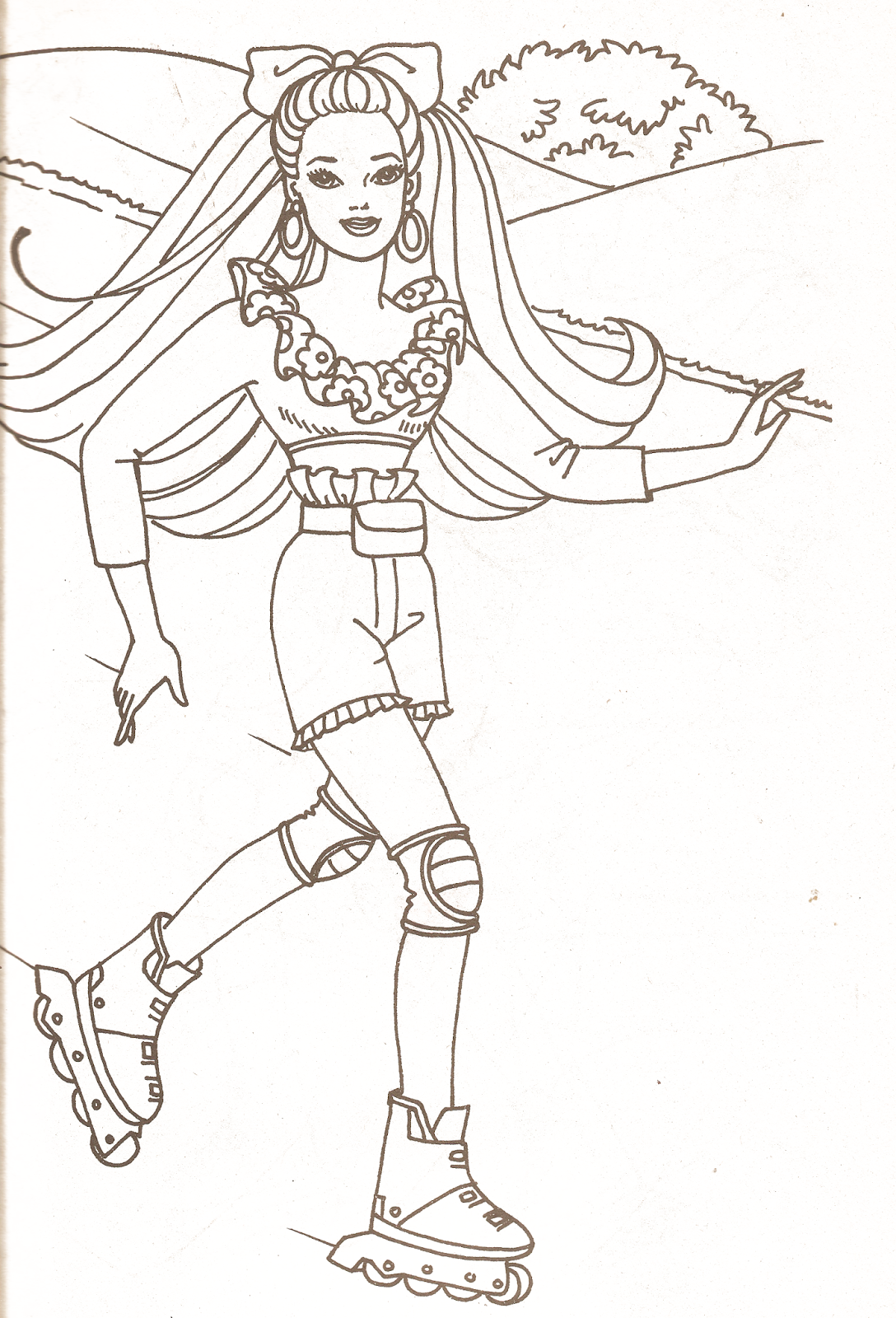Miss Missy Paper Dolls Barbie coloring pages part 2 Coloring
