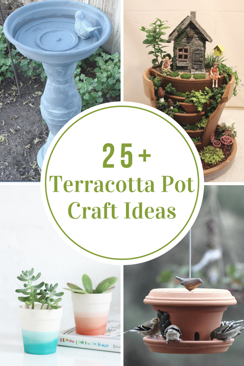 Garden decor craft ideas  Terracotta Pot Craft Ideas  Terracotta Craft and Room