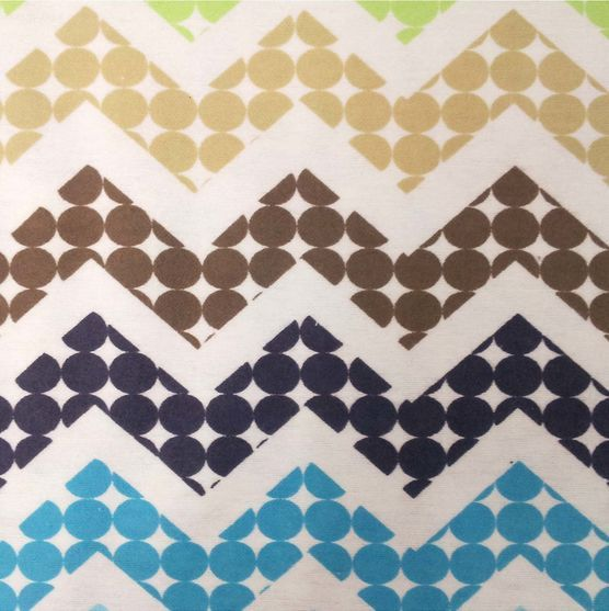Nursery Fabric Abc Dot Chevron Flannel Baby Boy