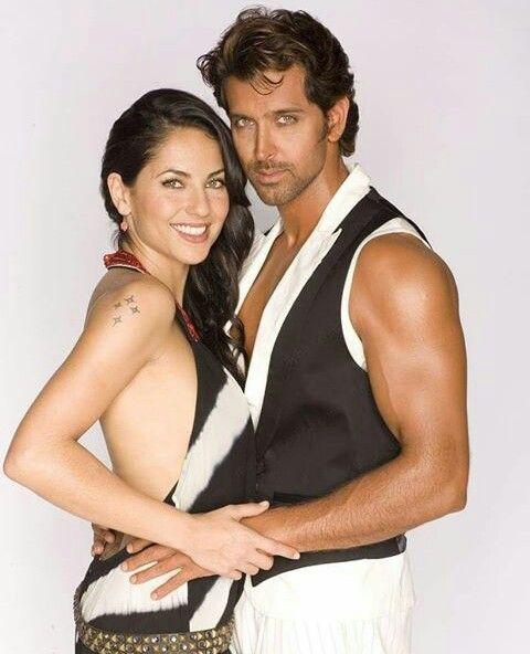 Hr And Barbara Moore Bollywood Actors Hrithik Roshan Barbara Mori