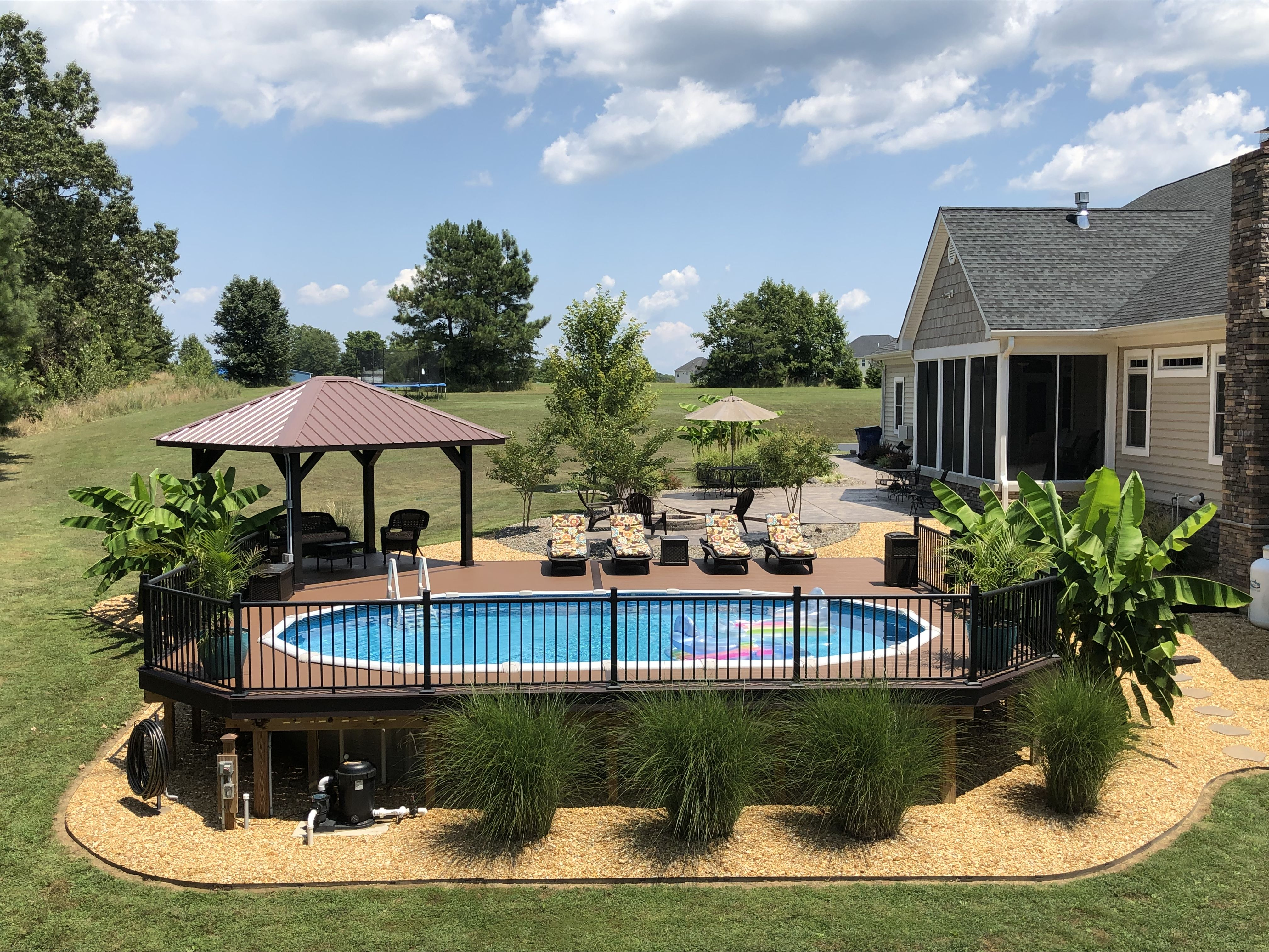 Amazing Above Ground Pool Above Ground Pool Landscaping Pools Backyard Inground Best Above Ground Pool Backyard landscaping ideas with above ground pool