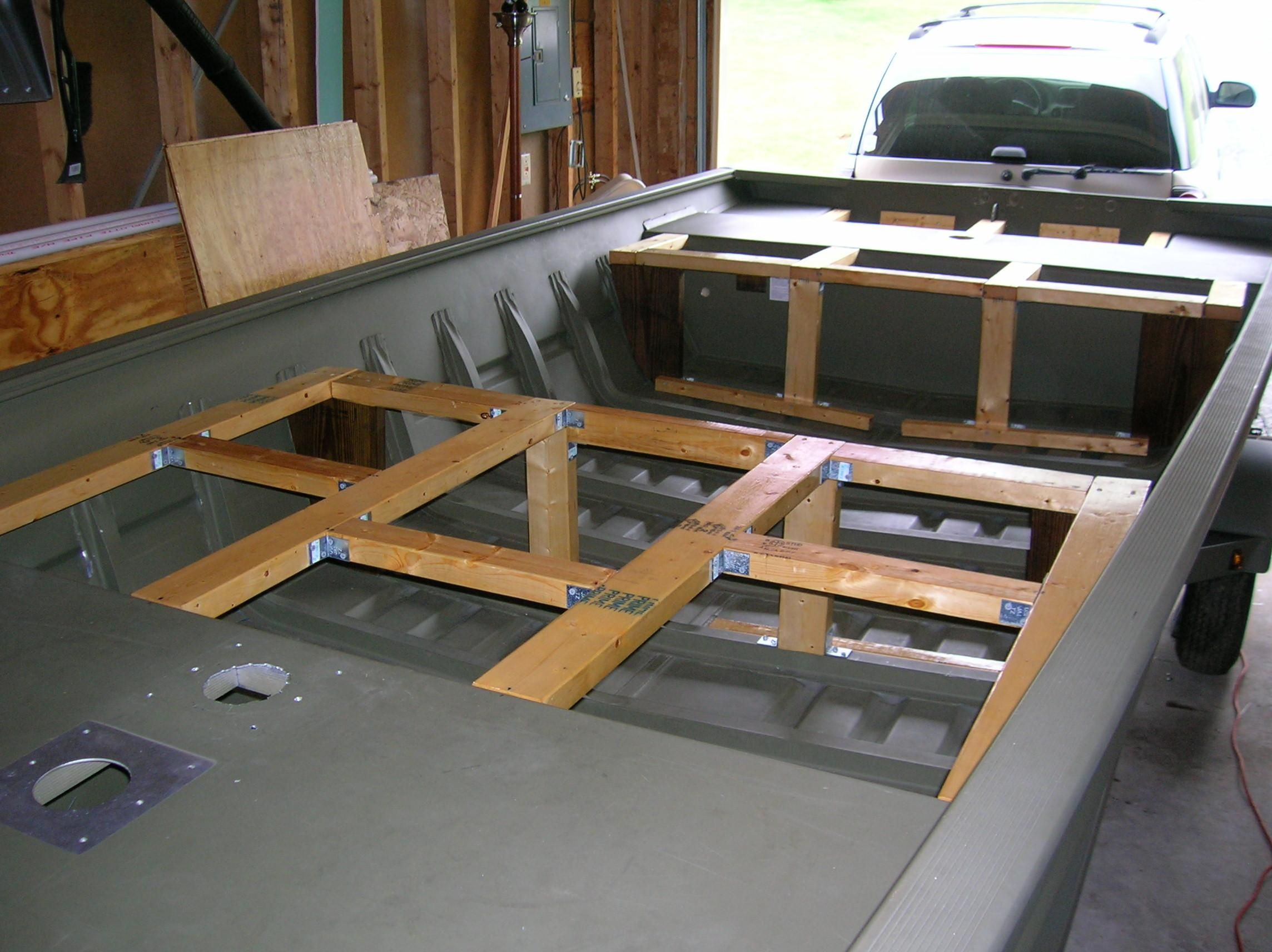 Jon Boat Modification - Support braces (whole boat) - Slideshow View