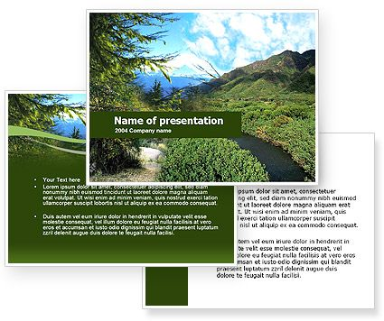 Download Mountain Valley PowerPoint Template and background for your - winter powerpoint template