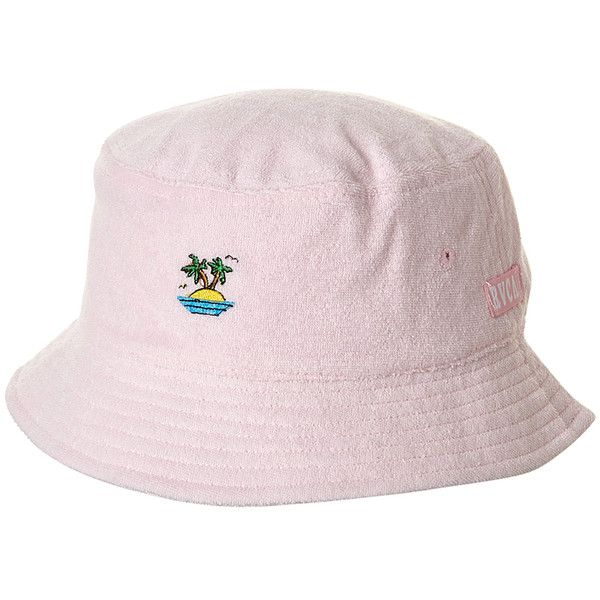 d94ea996137875 Rvca Sirens Bucket Hat Pink ($21) ❤ liked on Polyvore featuring  accessories, hats, headwear, pink, women, rvca hats, graphic bucket hats,  rvca, pink hats ...