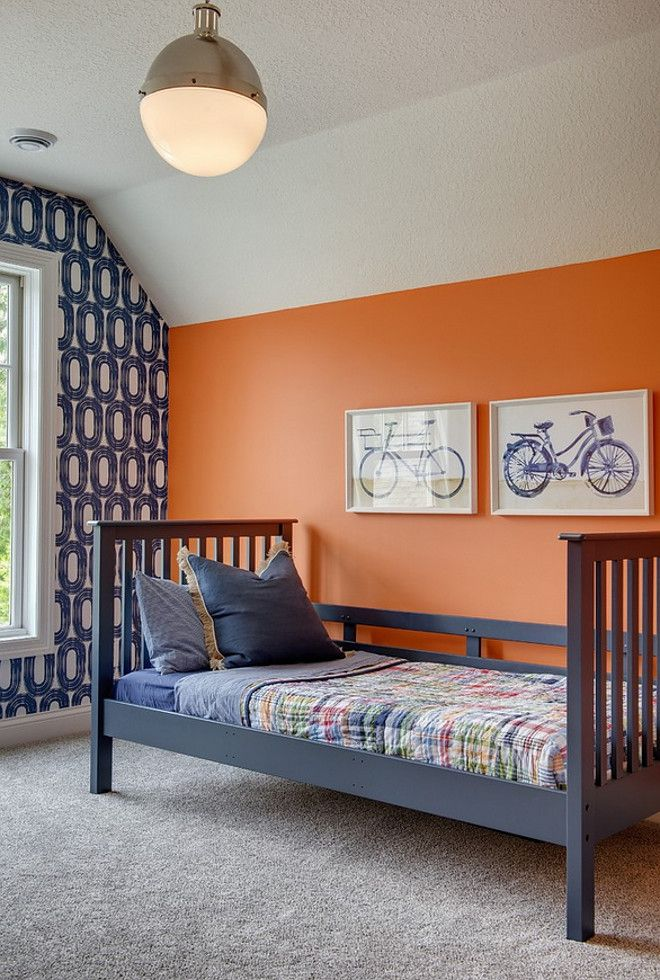 Paint color is Benjamin Moore Tangerine Dream 201230