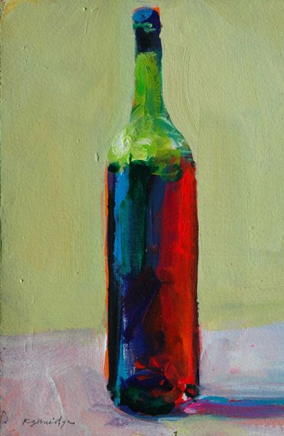 Finished Wine Bottle Painting Wine Painting Wine Art Art