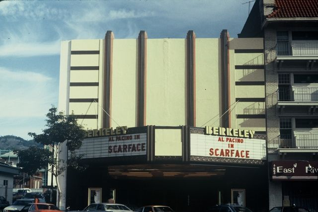 Berkeley Theatre, 2425 Shattuck Avenue, Berkeley (ca. 1983) Though it did not look it in recent years, the Berkeley actually dated back to 1911; it was remodeled and modernized by S. Charles Lee in 1936 in Moderne style, and went through modest renovations over the following years. It continued to show films until its closure in 1993 by Pacific Theatres, and stood vacant for a few years before being razed to make way for mixed-use housing and retail.