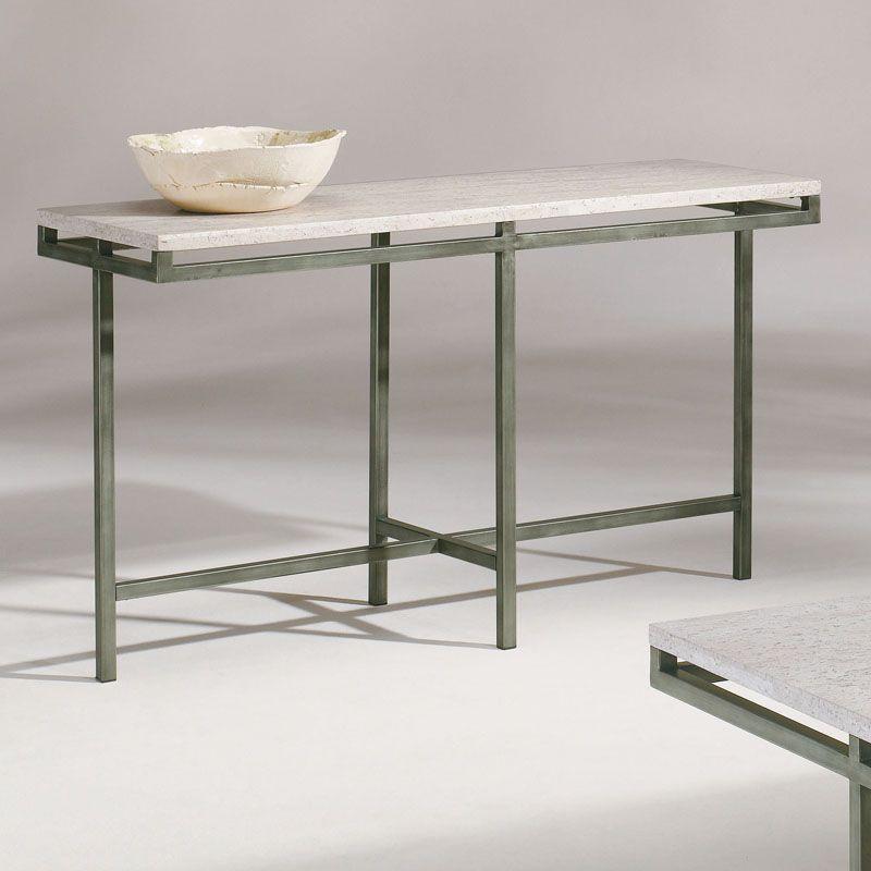 Metal Stone Modern Rectangular Console Table Ebay