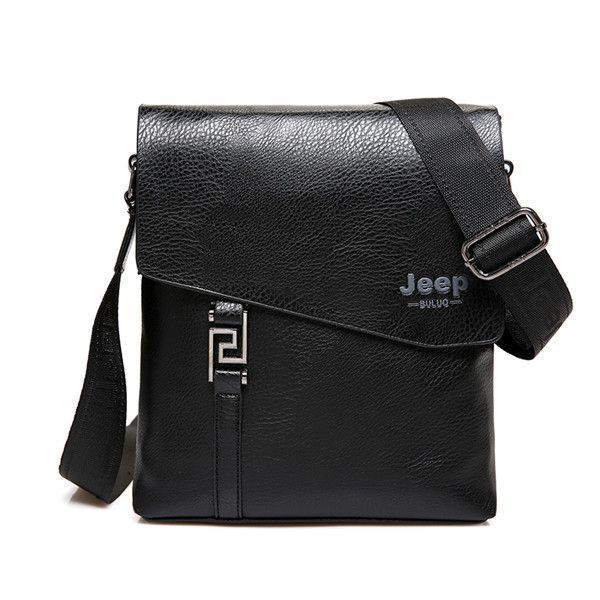 63efba25c5 JEEP BULUO Fashion Men Bags Waterproof Cow Split Leather Messenger Bag  Business Briefcase Crossbody Bags Male Shoulder Bag 5846