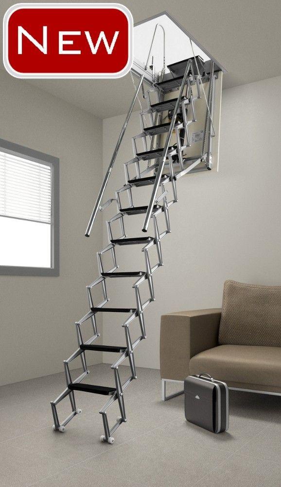 Electric Loft Ladder Staircase Design Gallery Doors Interior Loft Ladder Attic Ladder
